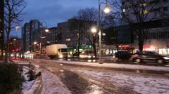 BERLIN - GERMANY Traffic at Berlin district Charlottenburg. Stock Footage