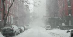 Snow Blizzard in Manhattan New York 4K Stock Video - stock footage