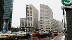 BERLIN - GERMANY Potsdamer Platz, Berlin, Germany. City life. - stock footage
