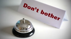 Do not bother bad service concept Stock Footage