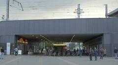 Passage under a city bridge in Vienna Stock Footage