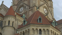 View of St. Francis of Assisi Church, Vienna Stock Footage