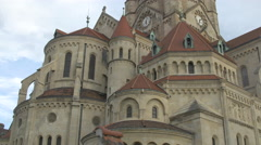 Great view of St. Francis of Assisi Church, Vienna Stock Footage