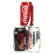 Different Coke Cola 0,33l cans Stock Photos