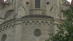Tower of St. Francis of Assisi Church, Vienna Stock Footage