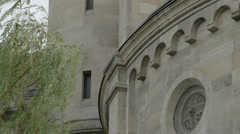 Decorated facade of St. Francis of Assisi Church, Vienna Stock Footage