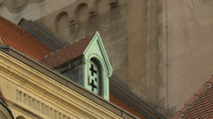 Detail of St. Francis of Assisi Church's roof, Vienna Stock Footage