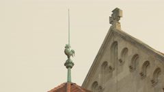 Lightning rod on a building in Vienna Stock Footage