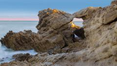 Leo Carrillo Arches Time Lapse - stock footage