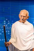 Mahatma Gandhi Figurine At Madame Tussauds Wax Museum Stock Photos