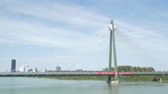 Donaustadt Bridge in Vienna Stock Footage
