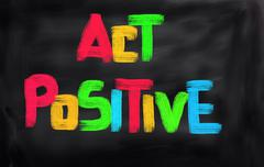 Act Positive Concept - stock illustration