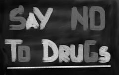 Say No To Drugs Concept - stock illustration