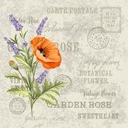 The lavender elegant card Stock Illustration