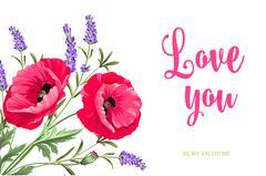 Lavender sign label - stock illustration