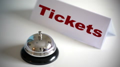 Tickets Orders Service Desk Call Bell - stock footage