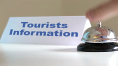 Tourists Information Desk Bell Arkistovideo