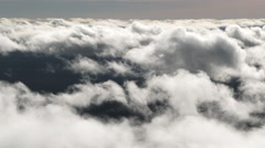 In The Clouds At High Elevation - stock footage