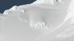 Fresh Powder Skiers Stock Footage