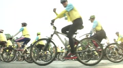 Thailand Bike for Dad Event Stock Footage