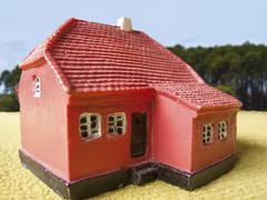 Farm land house - stock photo