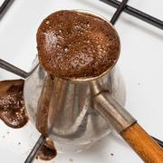 The Turk for cooking of coffee - stock photo