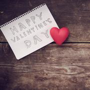 Note Happy Valentine's Day Stock Photos
