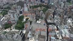Aerial View of Downtown and Banespa Building in Sao Paulo, Brazil Stock Footage