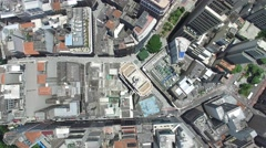 Top View of Banespa Building Sao Paulo, Brazil Stock Footage