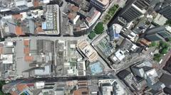 Top View of Banespa Building Sao Paulo, Brazil Stock Footage