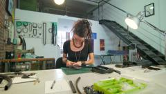 Jewelry maker at work slide Stock Footage