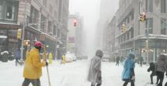 Snow Blizzard in Manhattan New York 4K Stock Video Stock Footage