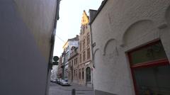 View of Depot D'O interior design store on Riddersstraat street  in  Bruges - stock footage