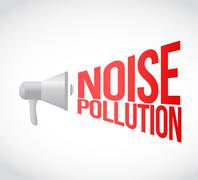 Noise pollution megaphone message at loud. concept Stock Illustration