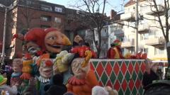 Brunswick carnival Schoduvel Braunschweig city jesters Stock Footage