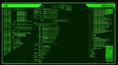 Futuristic digital interface screen Stock Footage
