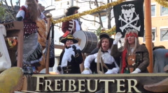 Brunswick carnival Schoduvel Braunschweig pirates Stock Footage