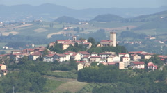 The picturesque village of  Lu Monferrato Stock Footage