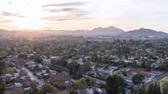 Thousand Oaks California Sunset Time Lapse with Zoom - stock footage