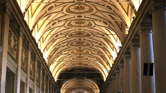 Close tilt up shot of the ceiling of the basilica santa maria maggiore, rome Stock Footage