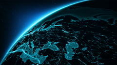 Earth connections. Europe. Cyan. More options in my portfolio. Stock Footage