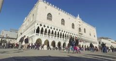 Tourism in Venice,  tourist on San Marco Square Stock Footage