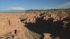 Time lapse canyon from morning till evening - stock footage