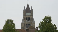 Saint Salvator's Cathedral tower in Bruges Stock Footage