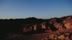 Time lapse canyon from morning till evening Stock Footage