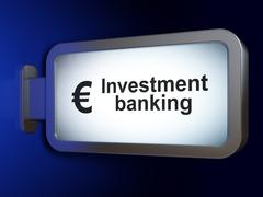 Banking concept: Investment Banking and Euro on billboard background - stock illustration