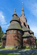 Gustav Adolf Stabkirche protestant stave church Hahnenklee Harz Lower Saxony Stock Photos