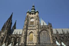 St Vitus Cathedral Prague Castle Hradcany Prague Czech Republic Europe - stock photo