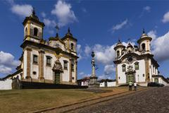 Church of Saint Francis of Assisi Igreja de Sao Francisco de Assis and the - stock photo