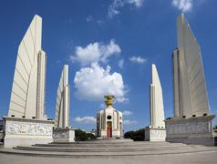 Democracy Monument Bangkok Thailand Asia - stock photo
